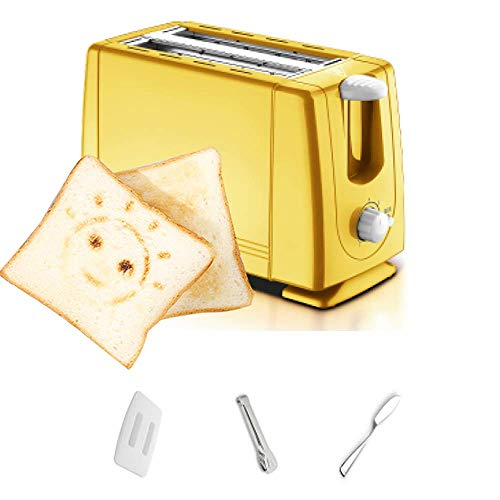 LOKKG Brot Toaster 2 Scheiben 21 * 15 * 11 cm, Brot Toaster Kenwood Metallschale, panierte Schublade, 6-Gang-Temperatureinstellung, mit Heizung und Auftauen rot