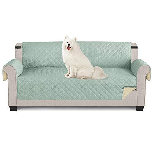 TAOCOCO Sofabezug für Sessel, wasserdicht, Schutz für Sofa, Mint grün, 3-Sitzer, 165 x 190 cm.