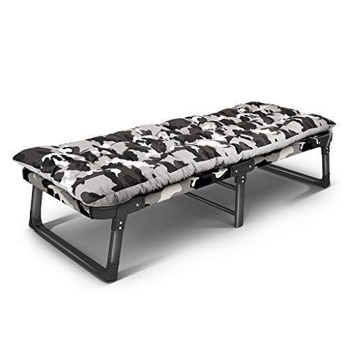 UCYG Cama Canapé Abatible Plegable para Invitados,Armadura De Metal Butaca Sofa con Colchón 1 Plazas para Camping Piscina Jardín, 200 Kg De Carga, 185x68x35cm (Color : 1)