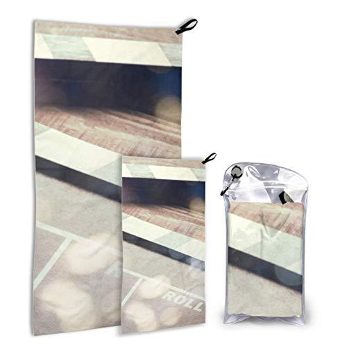 N\\A Clapboard Cinema On The Wooden Vintage 2er Pack Mikrofaser Handtuch Herren Handtuch Set schnell trocknend Am besten für Gym Travel Backpacking Yoga Fitnes
