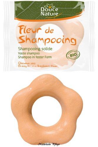 Douce Nature Fleur de Shampooing pour Cheveux Secs, 85 g