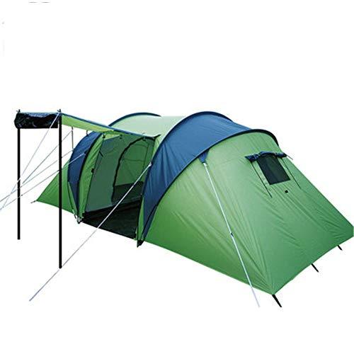 Zelten Family Camp Zelt Freien Zelt im Freien 3-4 Personen Family Outdoor Camping Zelt Regenschutz Multi-Person Großen Zelt Leicht Camping (Color : Green, Size : One Size)