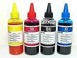Tinta para cartuchos de impresora HP 301 x 100 ml negro y 3 x 100 ml color