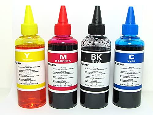 4 botes de tinta de 100 ml para impresoras Canon.