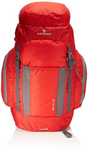 Ferrino Alta Via, Zaino da Hiking Unisex, Rosso, 45 Litri