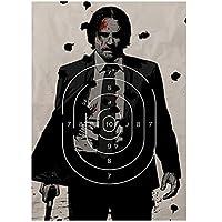 ジョンウィック第2章ホワイトペーパーポスターまだ絵画抽象的な面白いファンシーウォールステッカーコーヒーハウスバー-50x70cmx1pcs-フレームなし