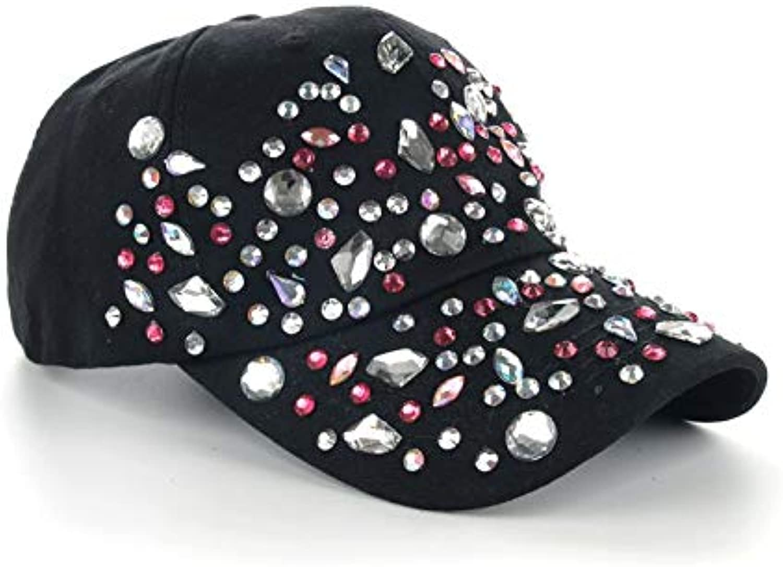 AAMOUSE Baseball Cap Hat Cap Fashion Leisure Rhinestones Cotton colorful dots CAPS Summer Baseball Cap 6