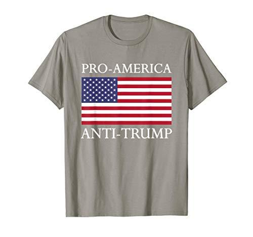 Pro-America Anti-Trump Shirt - American USA Flag Resist T-Shirt