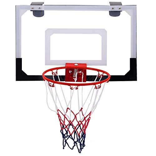 COSTWAY Canasta Baloncesto de Pared Puerta 45x30cm Aro de Baloncesto Juego para Niños