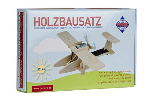 Solar Holzbausatz 3D Puzzle Sport-Flugzeug