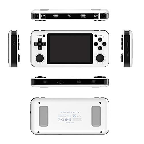 HEITIGN 64G Handheld Game Console, Portable RG351P Retro Game Console Open...