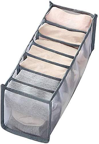 FOHYLOY - Organizador de cajones para ropa interior, calcetines para sujetador, cajas de almacenamiento, organizador para armario plegable, divisor de cajones, para guardar sujetador (7 cuadrículas)