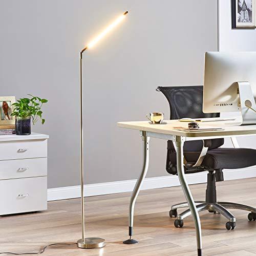 Lampenwelt LED Stehlampe modern, dimmbar | Standleuchte Metall | Leselampe-Stehlampe für Wohnzimmer, Esszimmer, Arbeitszimmer, Büro (A+, inkl. Leuchtmittel)