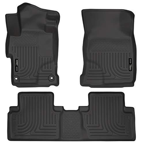Husky Liners Fits 2014-15 Honda Civic - with 4 Doors Weatherbeater Front & 2nd Seat Floor Mats 1999 Exclusive Car Mats