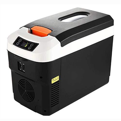 GJHBFUK Mini Nevera 12L / 15L Caliente Fría Eléctrico Portátil Nevera Portátil De Compresor del Congelador De Refrigerador For El Coche, El Barco Y Jardín Que Acampa (Color : Black, Size : 12L)