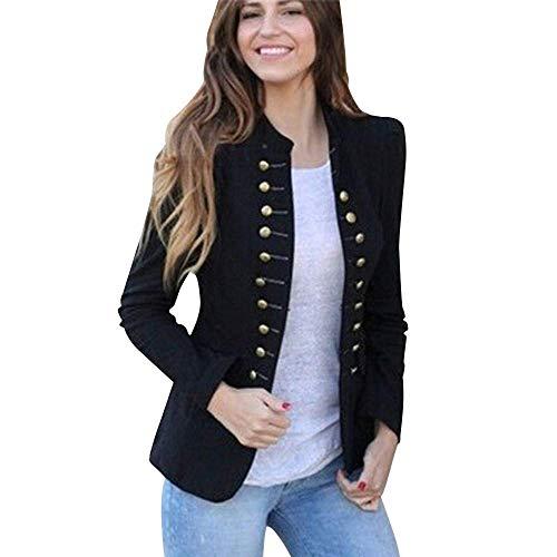 Steampunk Damen Jacke Gothic Mantel Peacoat Buttons Gehrock Doppelreiher Punk Rave Fashionable Completi Lolita Langarm Retro Mittellang Kostüm Cosplay Uniform Trenchcoat Overcoat