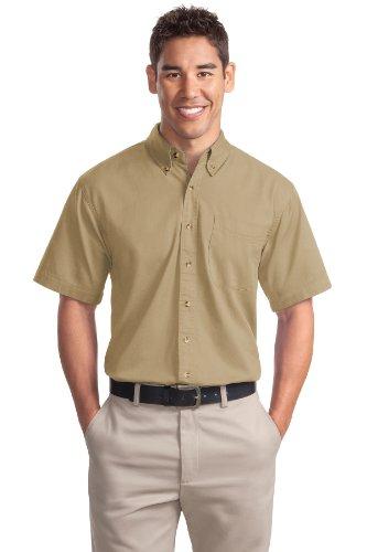 Port Authority® Short Sleeve Twill Shirt. S500T Khaki XL