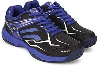 Yonex Tru Cushion & Tru Shape Non-Marking Badminton Court Shoes, Black/Blue - 9 UK