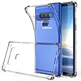 SKTGSLAMY Galaxy Note 9 Case, Note 9 Case Clear, Soft TPU Case Crystal Transparent Slim Anti Slip Case Back Protector Case Cover for Samsung Galaxy Note 9 (Clear)