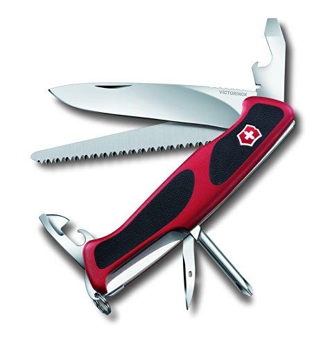 Victorinox Taschenmesser Ranger Grip 56 Rot-Schwarz, 0.9663.CB1
