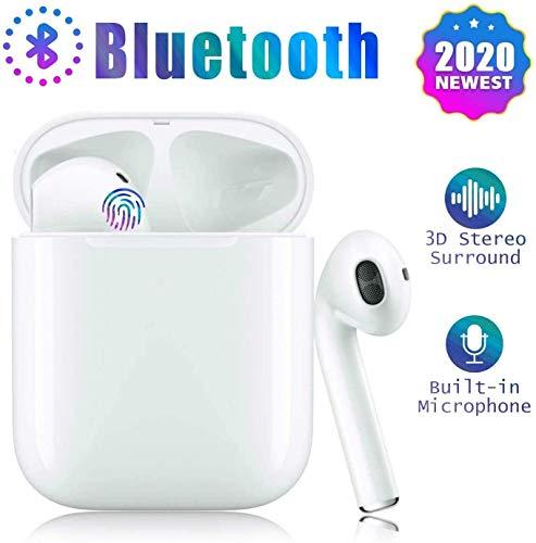 Bluetooth-Kopfhörer,kabellose Touch-Kopfhörer HiFi-Kopfhörer In-Ear-Kopfhörer Rauschunterdrückungskopfhörer,Tragbare Sport-Bluetooth-Funkkopfhörer,Für Android/iPhone/Samsung