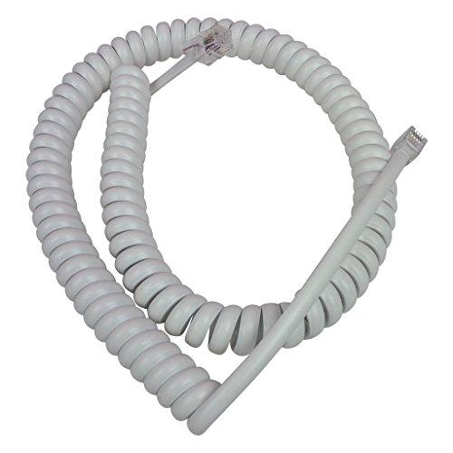 HeyMot Communications Ersatz-Curly Cord für Siemens Optiset E Advance Plus, Weiß