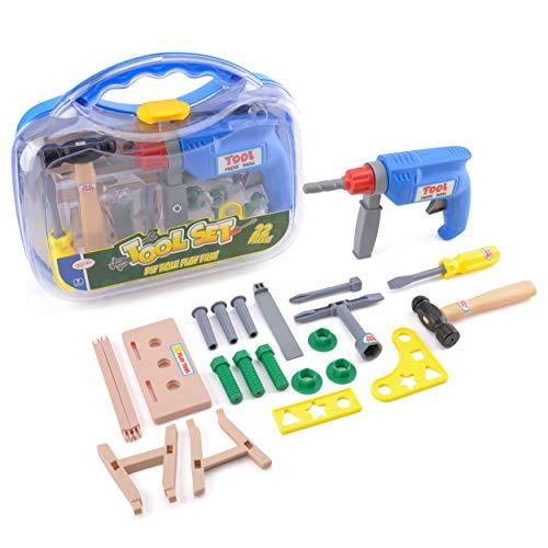 (Toyrific) 22 Piece Tool Set Carry Case (Age 3+)