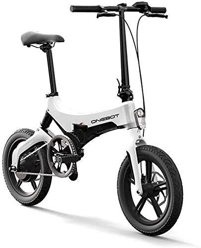 onebot Bicicleta eléctrica Plegable S-6 (Blanca)| autonomía 40KM, batería 36V 5.2AH Vel....