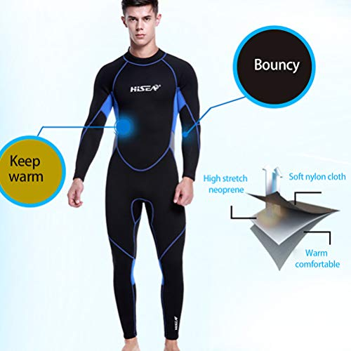 HERAHQ Men & Women Full Body Surf Wetsuit, 3 Mm Neoprene Triathlon Swimsuit Warm Scuba Diving Wet Suit,Women,L