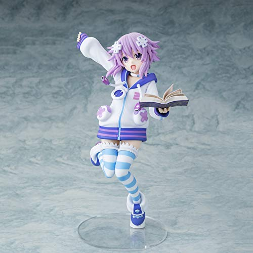 Hyperdimension Neptunia Action Figures, Neptune Anime Toy Statue Model, 22Cm Handmade PVC Environmental Protection Materials Collection Decorative Ornaments, for Friends