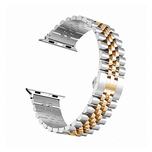 ZAALFC Correa de Acero Inoxidable for Apple Venda de Reloj de 6 SE 5 4 3 40 mm 44 mm 38 mm 42 mm de Metal de reemplazo Pulsera Venda del Deporte de IWatch for 6 5 3