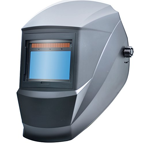 Antra AH6-X60S-0000 Solar Power Auto Darkening Welding Helmet Super Lightweight Lens Wide Shade 5-9/9-13 with Grinding Feature Extra Lens Covers Good for TIG MIG MMA Plasma