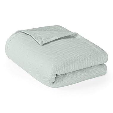 Madison Park Liquid Cotton Blanket, Full/Queen, Seafoam