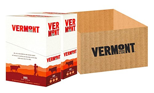 Vermont Smoke & Cure Meat Sticks - Antibiotic Free Beef Sticks - Gluten-Free Snack - Paleo and Keto Friendly - Nitrate Free - BBQ - 1oz Stick - 48 Count