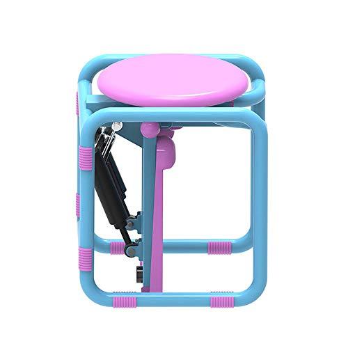 XYLUCKY Mini Escalera Paso A Paso Multifunción, Taburete del Equipo De Los Ejercicios De La Aptitud Casera, Escalera Hidráulica para Interior Fitness con Pantalla,Rosado