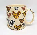 Walt Disney World Animal Kingdom Mickey Mouse Pattern Ceramic Mug Cup NEW