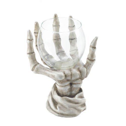 Home Locomotion Skeleton Hand Candle Holder