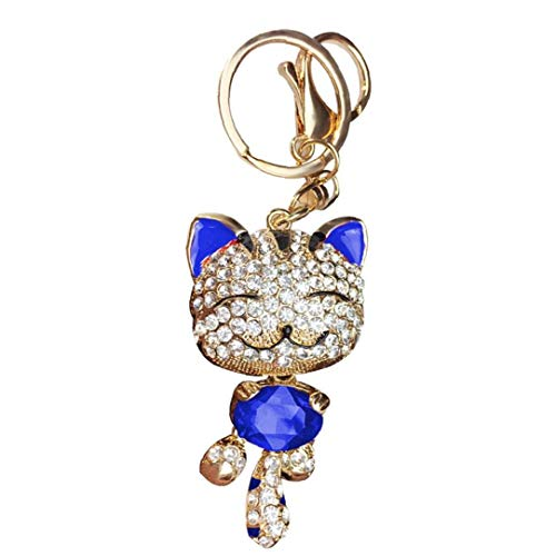 Onsinic 1pc Mini Sonrisa Afortunada Regalos del Gato Llavero De Cristal De Mujeres Monedero Llavero Niñas Inspiración Cadena Dominante del Coche
