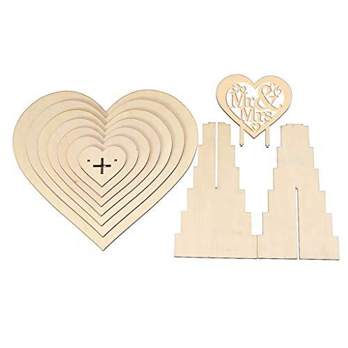 VEED Mr & Mrs Wooden Chocolate Candy Herz Hochzeit Herzstück Display Standhalter