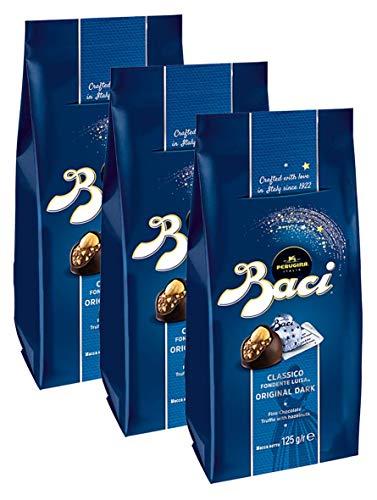 BACI Premium Beutel, 10 Pralinen mit dunkler Schokolade und Haselnussfüllung, 3er Pack (3 x 125g)