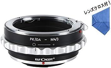 [正規代理店]K&F ペンタックスK DAレンズ PK/DA -m4/3 マイクロフォーサーズ マウントアダプター 絞り調整可能! レンズクロス付 da-m43 (KFM43)