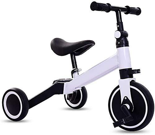 UWY Triciclo para niños 3 en 1, Triciclo Plegable, Bicicleta de Entrenamiento al Aire Libre Ajustable en Altura, para niños y niñas de 1 a 4 años, Regalo de cumpleaños, Bicicleta de Equilibrio