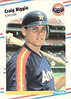 1988 Fleer Update Baseball #U-89 Craig Biggio Rookie Card - Near Mint to Mint