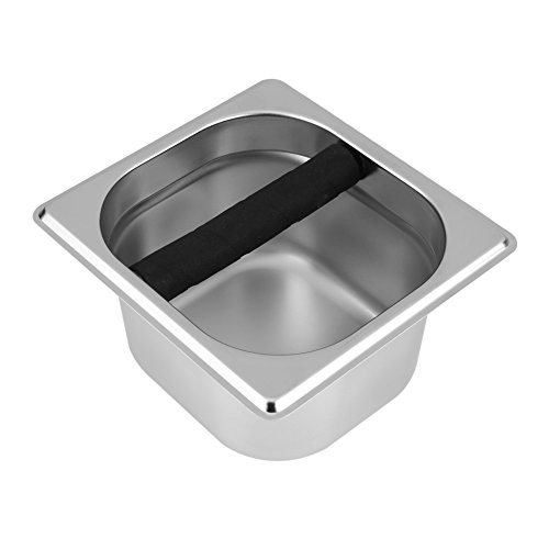 Great Features Of Funny Espresso Knock Box-Stainless Steel Espresso Knock Box Container with Rubber ...