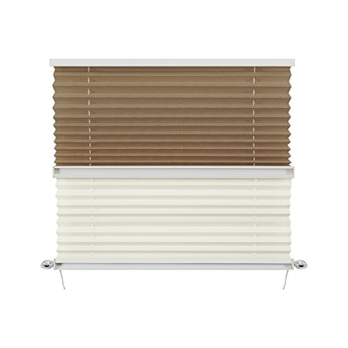 RV Day & Night Pleated Shades Cotton/Sand Stitchbond (50' x 24')