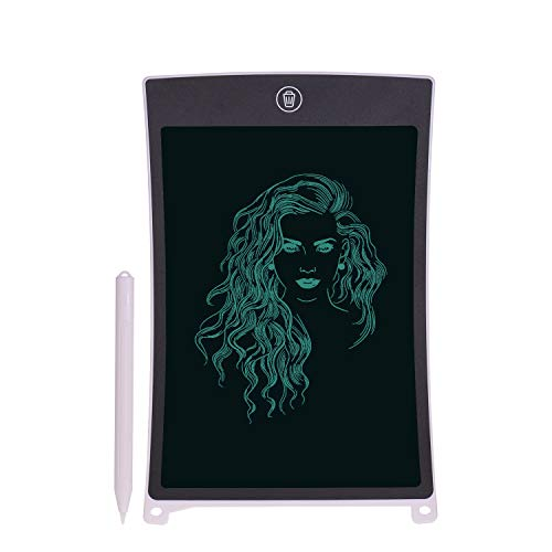 LCD Writing Tablet, Tickas Writing Tablet, 8.5 Inch LCD Writing Tablet Portable Reusable Electronic Digital Drawing Board Graphics Handwriting Pad with Stylus Pen Erase Button Lock Function Gift for