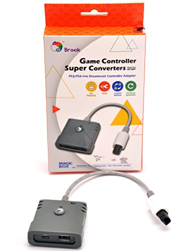CtrlDepot Brook Super Converter Compatible for PS3 PS4 to Dreamcast Adapter use Arcade Stick and Wireless Controller on Sega DC