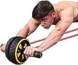 Rueda magnética para ejercicios de interior para bicicleta, rodillo para ejercicios abdominales, rodillo para abdominales, equipo de ejercicio para abdominales, equipo de ejercicios para el núcleo, mu