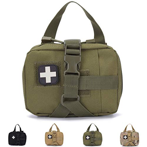 Homiego Tactical Rip Away EMT Pouch Molle IFAK Medical Kit Bag(MG)