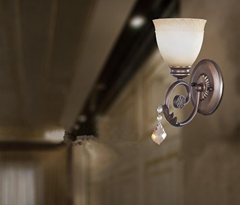 HEYUN& Europische Einzelkopf-Wandlampe Beleuchtung Korridor LED-Energiesparlampen Kristalllampe Nachtspar {A++}
